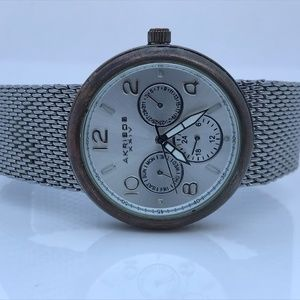 Akribos XXIV Ladies Watch Silver Tone Mesh Metal B